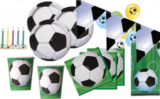 XXL 76 Teile Fußball Party Deko Set für 16 Personen