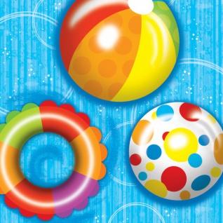 18 Sommer Party Servietten Wasser Spaß