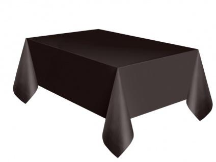 Plastik Tischdecke schwarz