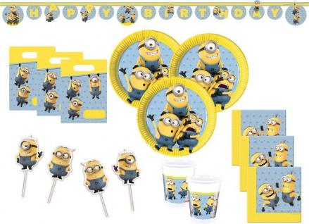 XXL Minions Party Deko Set für 16 Kinder