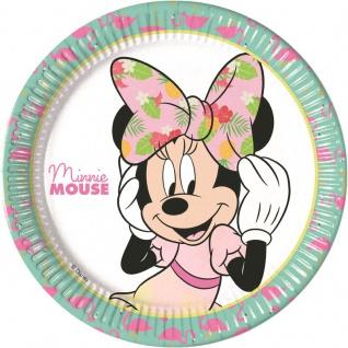 8 Teller Minnie Maus Tropical