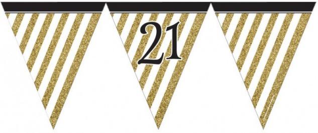 29 Teile Set zum 21. Geburtstag oder Jubiläum - Party Deko in Schwarz & Gold - Vorschau 3