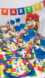 8 Party Tüten Bausteine Party - Vorschau 2