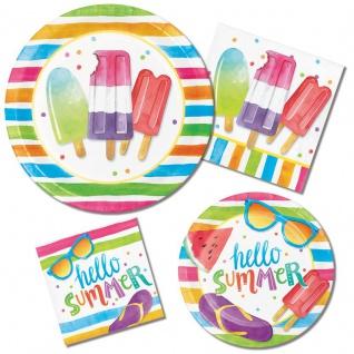 8 kleine Teller Eis Party Hallo Sommer - Vorschau 2