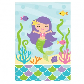 8 Party Tüten kleine Meerjungfrau