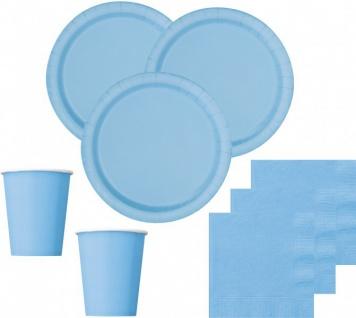 52 Teile Party Deko Set Hellblau für 16 Personen