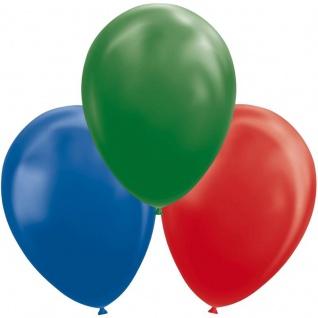 8 Luftballons in Blau, Rot und Grün 30cm