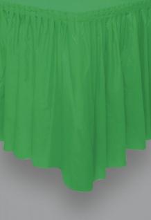 Plastik Tischrock Gras Grün