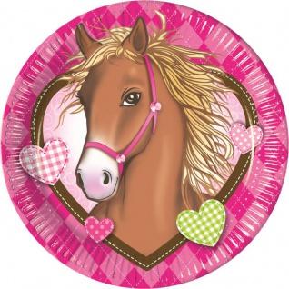 8 Pferde Party Teller Pink Pony