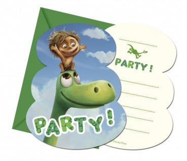 6 Dinosaurier Einladungskarten Arlo und Spot