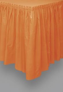 Plastik Tischrock orange