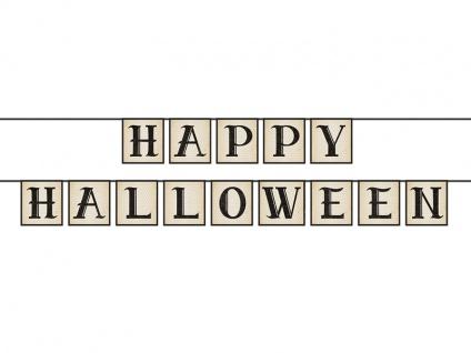 Happy Halloween Girlande am Satinband