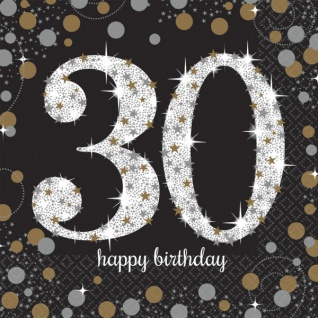 48 Teile zum 30. Geburtstag Gold Glitzer für 16 Personen - Vorschau 3