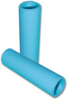 Papier Luftschlangen Pastell Blau - 1 Rolle a 20 Wurf flammensicher