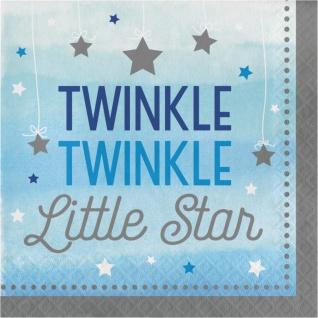 48 Teile Blinke Kleiner Stern Blau Party Deko Set 16 Personen für die Baby Shower oder Kindergeburtstag - Vorschau 4