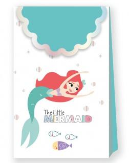 6 glänzende Papier Tüten Arielle die Meerjungfrau Deluxe
