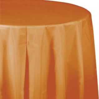 Runde Plastik Tischdecke Bernstein 208 cm