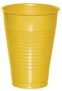 20 Plastik Becher in Sonnen Gelb 350 ml