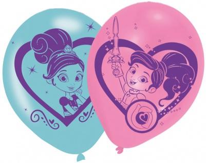 6 Luftballons Nella die Ritter Prinzessin mit ihrem Einhorn