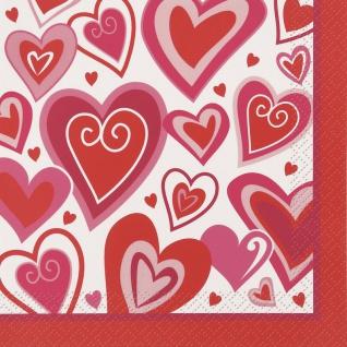 16 Servietten Verspielte Herzen