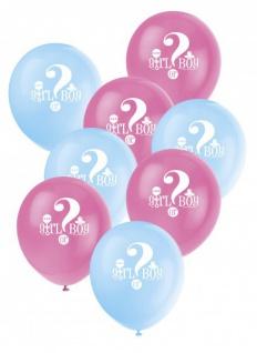 24 Luftballons Babyparty Junge oder Mädchen?