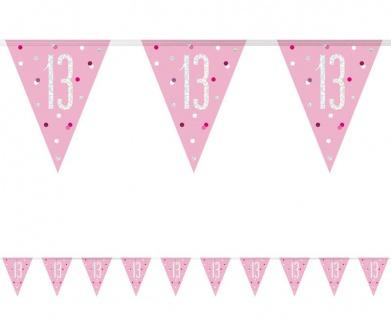 XL 36 Teile 13. Geburtstag Pink Dots Party Deko Set 8 Personen - Vorschau 3