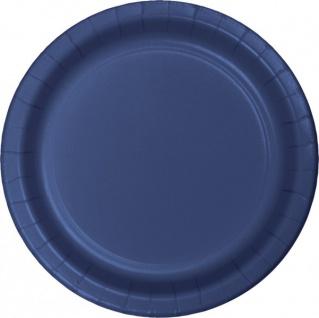 24 Pappteller Marine Blau