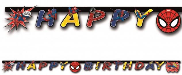 Geburtstags Girlande Spider-Man Ultimate Power