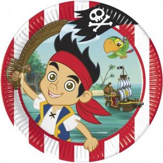 8 Jake und die Nimmerland Piraten Teller