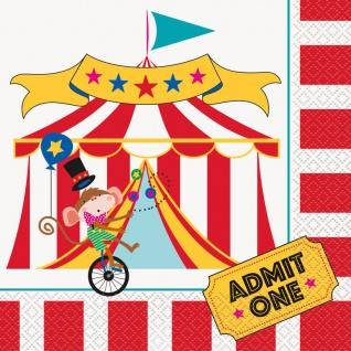 16 Servietten Zirkus Manege
