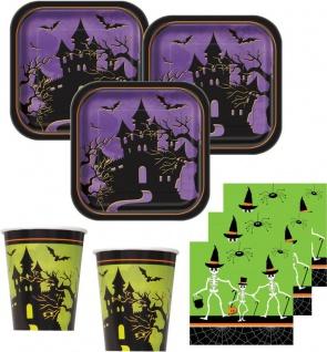 36 Teile kleines Fingerfood Halloween Deko Set Skelett Familie Geisterhaus 8 Personen