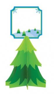 4 Tannenbaum Tischkarten Halter