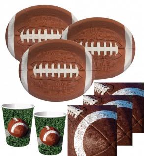34 Teile American Football Superbowl Party Deko Set 8 Personen