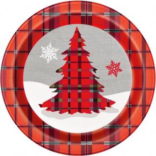 8 Teller Weihnachten Rustikal