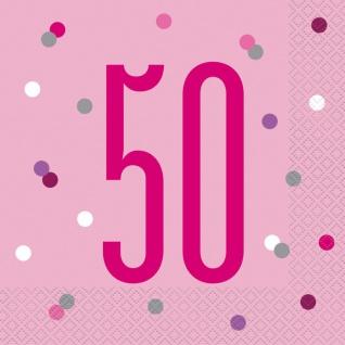 32 Teile 50. Geburtstag Pink Dots Party Set 8 Personen - Vorschau 4