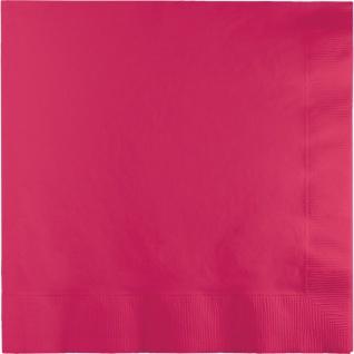 25 große Dinner Servietten Pink Magenta
