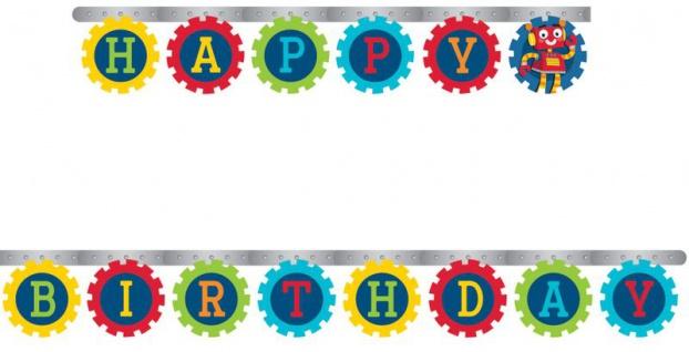 Geburtstags Girlande Roboter Party