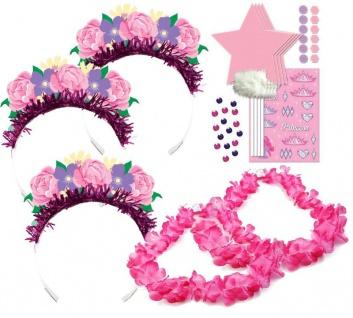 24 Teile Blumen Fee Verkleidungs Bastel Mitgebsel Set 8 Kinder zum Kindergeburtstag