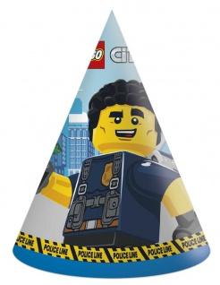 6 Party Hütchen Lego City Polizei
