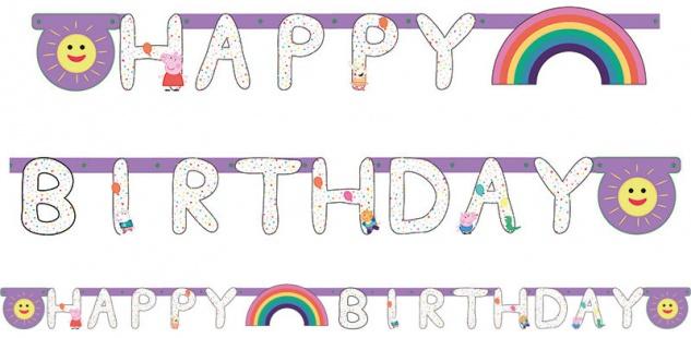 Geburtstags Girlande Peppa Wutz Party