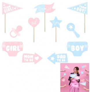Foto und Selfie Set Baby Party Junge oder Mädchen