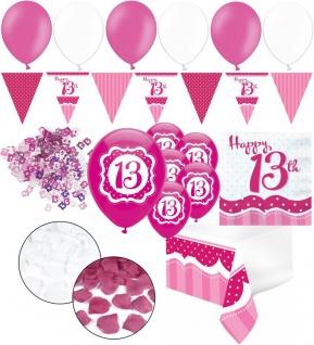 XXL 35 Teile zum 13. Geburtstag Perfectly Pink für 18 Personen - Servietten