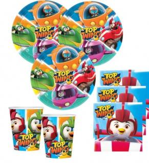 48 Teile Top Wing - das coolste Team der Lüfte Party Deko Set 16 Kinder