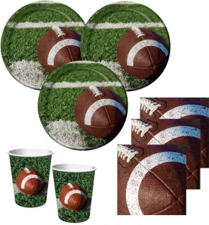 48 Teile American Football Superbowl Party Deko Set 16 Personen