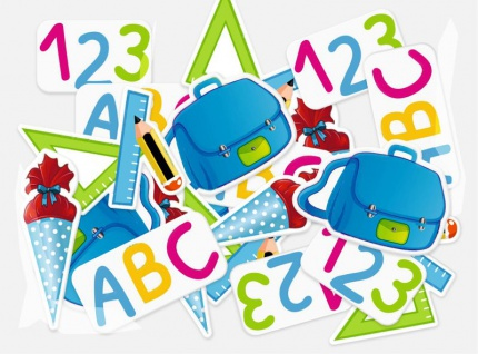 Streudeko Konfetti ABC Schultüte Schulranzen zum Schulanfang