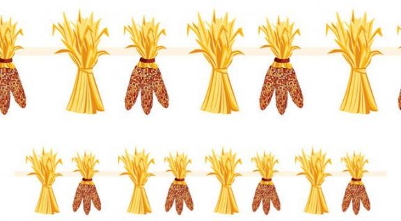 Herbstliche Erntedank Dekoration Maiskolben Girlande - Vorschau