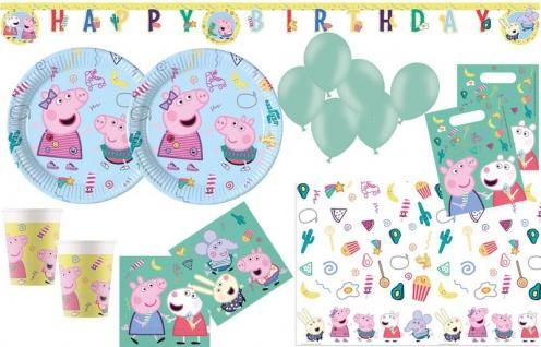 XL 60 Teile Peppa Wutz Party Deko Set für 8 Kinder