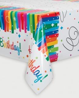 Tischdecke Regenbogen Geburtstag