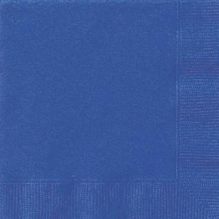 20 Servietten Königs Blau