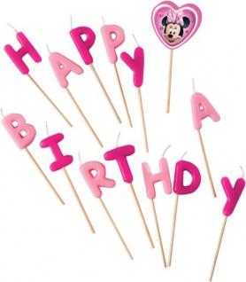Minnie Maus Geburtstags Kerzen Picks